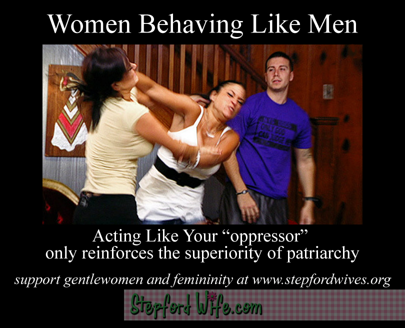 behaving like men is not feminine and it is not liberating