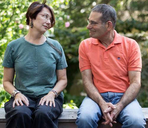 Kerry Maguire and Tom Stossel, among the many couples whose relationships have frayed during the 2016 election season, at home in Belmont, Mass.