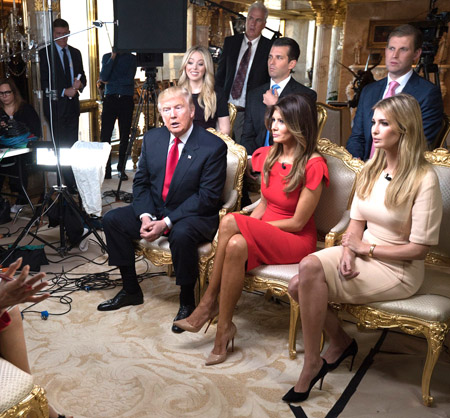 Donald Trump Trumps Get Interviewed Women Keep Quiet Stepford