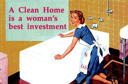 Stepford Wife a clean home is a womans best investment at stepfordwife.com Selfish or Sensible?